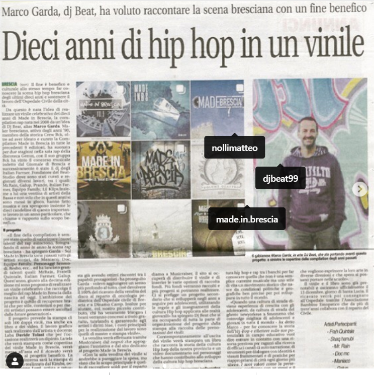 Dieci anni di Hip Hop in un vinile